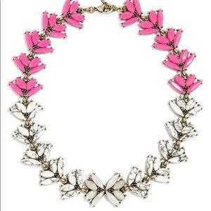 BaubleBar Botanica pink crystal collar necklace